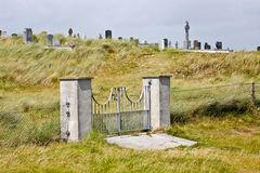 Gate of the local cemetery in Inisheer, Ireland Royalty Free Stock Image