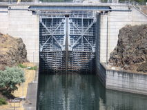 Gate at the Locks. At The Dalles Dam on the Columbia River Stock Photos