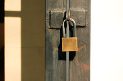 Gate locks Home Stock Photo