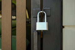 Gate locks Home. Security & Safety royalty free stock images
