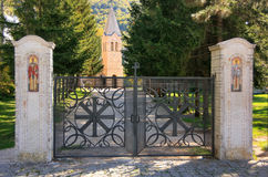 Gate of Lower Church, Ostrog Monastery, Montenegro Royalty Free Stock Images