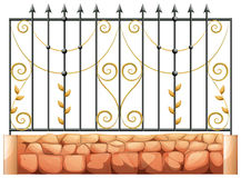 A gate made of pointed steel stock illustration