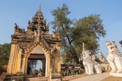 Gate at the Maha Aungmye Bonzan monastery in Inwa Stock Images