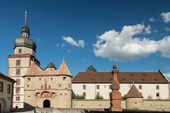 Gate of Marienberg Fortress, Wuerzburg Stock Photos