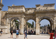 The Gate of Mazeus and Mythridates, Ephesus Royalty Free Stock Image