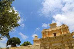 The Gate of in Mdina Royalty Free Stock Photo