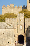 The gate of the medieval Castle of the Knights Royalty Free Stock Images