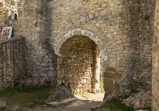 Gate of medieval castle Royalty Free Stock Photography