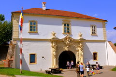 Gate of the medieval fortress  Alba Iulia, Transylvania Stock Image
