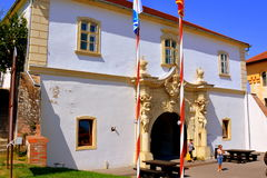 Gate of the medieval fortress Alba Iulia, Transylvania. Royalty Free Stock Photo