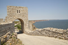 The gate of the medieval fortress Stock Photography