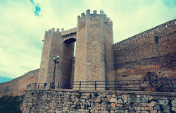 Gate of medieval town walls. Morella, Castellon Royalty Free Stock Images