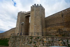 Gate of medieval town walls. Morella Royalty Free Stock Photography