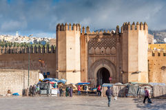 Gate in the medina of Fez, Morocco Royalty Free Stock Photography