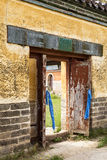 The Gate of monastery in Mongolia royalty free stock image