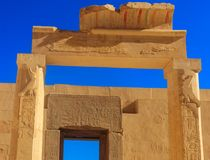 Gate in Mortuary Temple of Hatshepsut in Luxor. Egypt royalty free stock photography