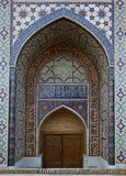 Gate of a mosque in Samarkand Stock Photography