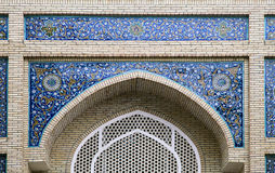 Gate of a mosque in Samarkand Stock Photos