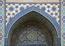 Gate of a mosque in Samarkand Royalty Free Stock Image
