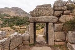 Gate in Mycene Stock Images
