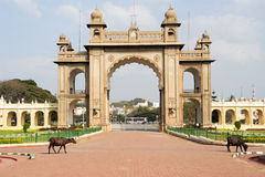 Gate of the Mysore Palace Royalty Free Stock Photo
