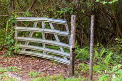 Gate in nature area Royalty Free Stock Images
