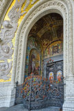Gate of Naval Cathedral of Saint Nicholas in Kronstadt Stock Photography