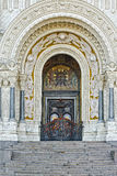 Gate of Naval Cathedral of Saint Nicholas in Kronstadt Royalty Free Stock Image