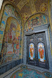 Gate of Naval Cathedral of Saint Nicholas in Kronstadt Stock Photos