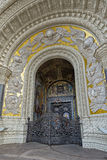 Gate of Naval Cathedral of Saint Nicholas in Kronstadt Royalty Free Stock Images