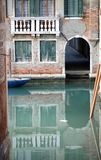 Gate on the navigable canal in Venice Italy. And tide royalty free stock photos