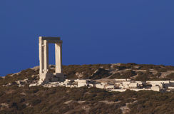 The gate of the Naxos temple Royalty Free Stock Images
