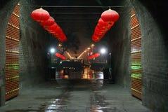Gate at night Stock Photo