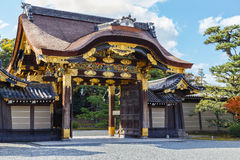 The Gate  Of Nijo Castle in Kyoto Stock Images