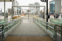 Gate Of Tram In The Toyama Station In Japan Stock Photo