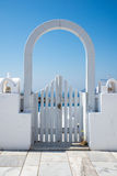 Gate in Oia in Santorini Stock Photos