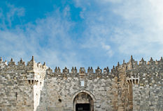 Gate of old city of Jerusalem Royalty Free Stock Photography