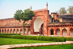 Gate of the old Indian Red Fort Stock Images