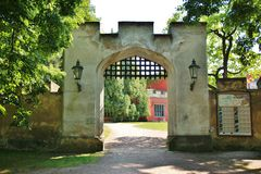 Gate of an old medieval castle Stock Photo