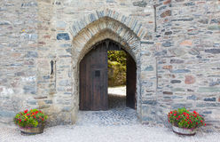 Gate of an old medieval castle Royalty Free Stock Photography