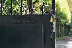 Gate open on a parc stock photography