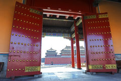 Gate opening to Forbidden City (Palace Museum) royalty free stock image