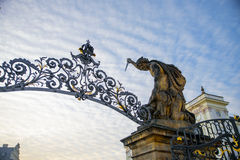 Gate ornaments at sunset Royalty Free Stock Photography