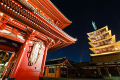 Gate and pagoda of Senso-ji shrine in Tokyo Stock Image