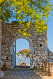 Gate in Palamidi fortress Royalty Free Stock Photos