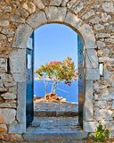 Gate in Palamidi fortress, Nafplio, Greece Stock Photo