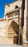 Gate of Palencia Cathedral Royalty Free Stock Images
