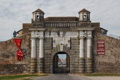Gate of Palmanova fortifications Royalty Free Stock Photography
