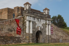 Gate of Palmanova fortifications Royalty Free Stock Photos