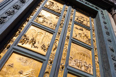 The Gate of Paradise - Baptistery, Florence Stock Image